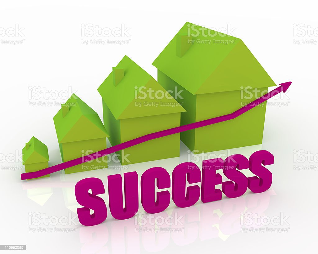 Graph of success royalty-free stock photo