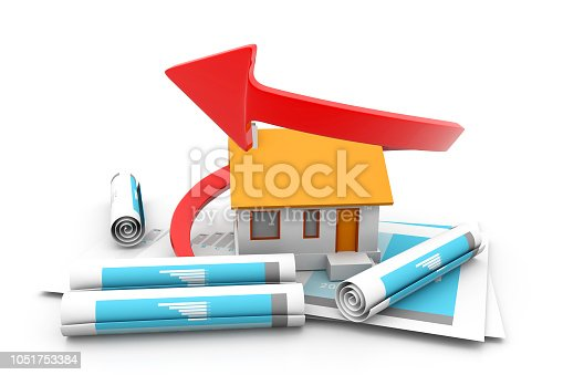istock Graph of the housing market new concept 1051753384