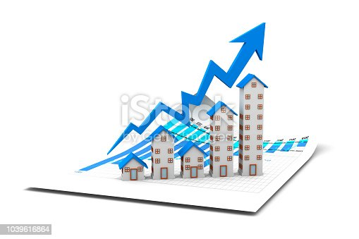 istock Graph of the housing market 1039616864