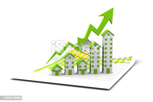 istock Graph of the housing market 1039616866