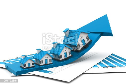 istock Graph of the housing market 1051752894