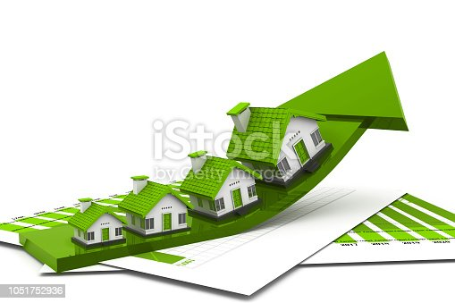 istock Graph of the housing market 1051752936
