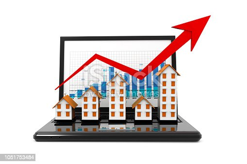 istock Graph of the housing market 1051753484
