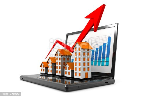istock Graph of the housing market 1051753556