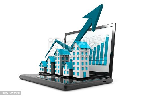 istock Graph of the housing market 1051753570