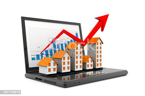 istock Graph of the housing market 1051753678