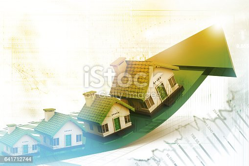 istock Graph of the housing market 641712744