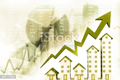 istock Graph of the housing market 641712952