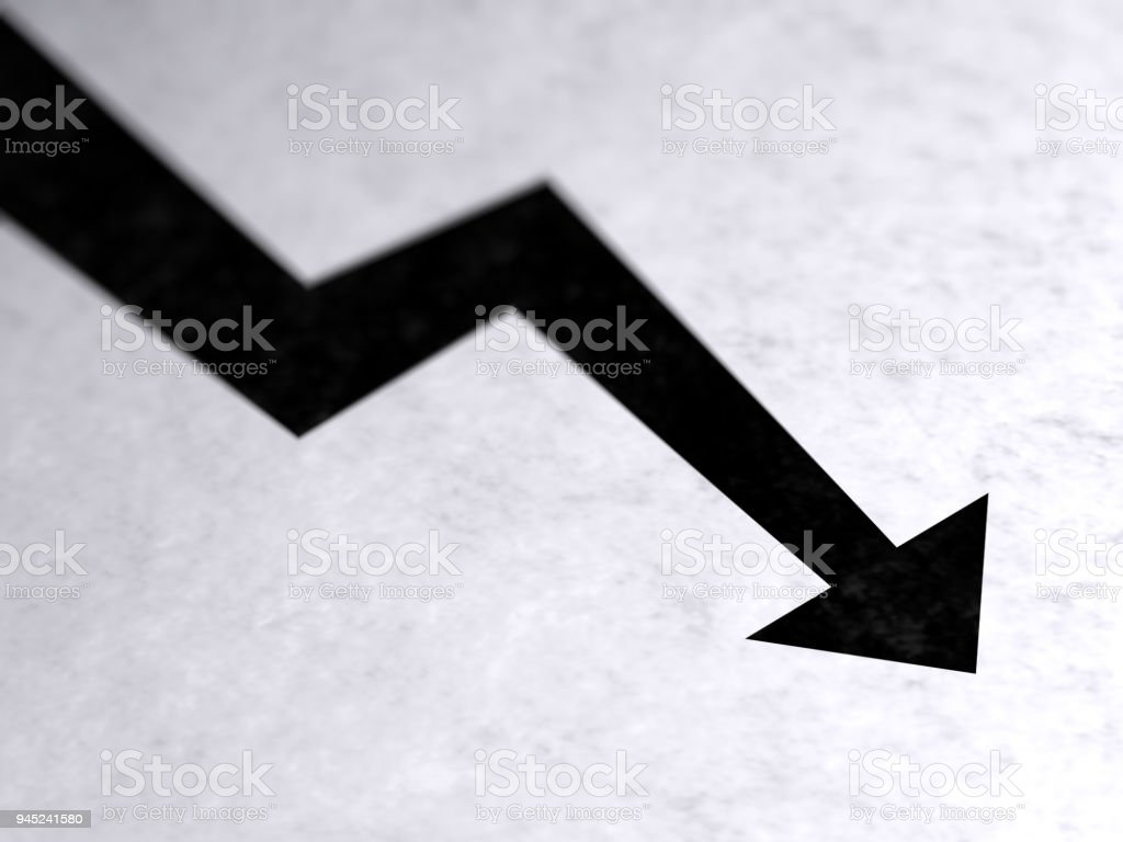 Graph on the page. stock photo