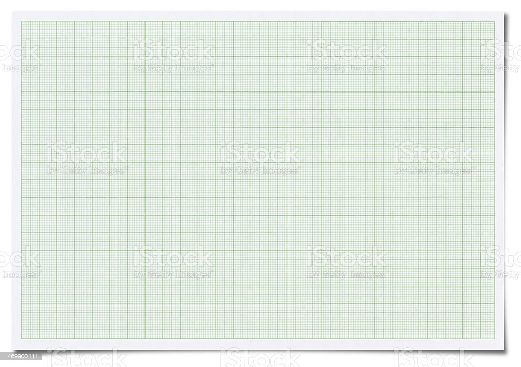 Graph paper isolated on white stock photo