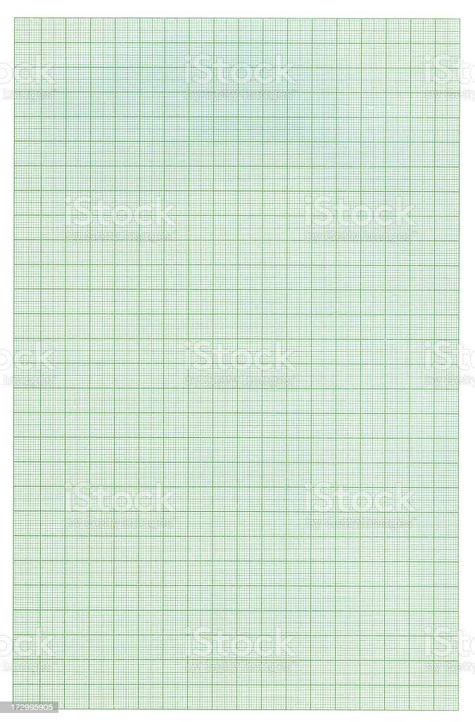 Graph Paper Isolated on White XXL royalty-free stock photo