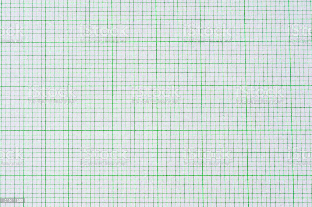 graph paper isolated with white background stock photo
