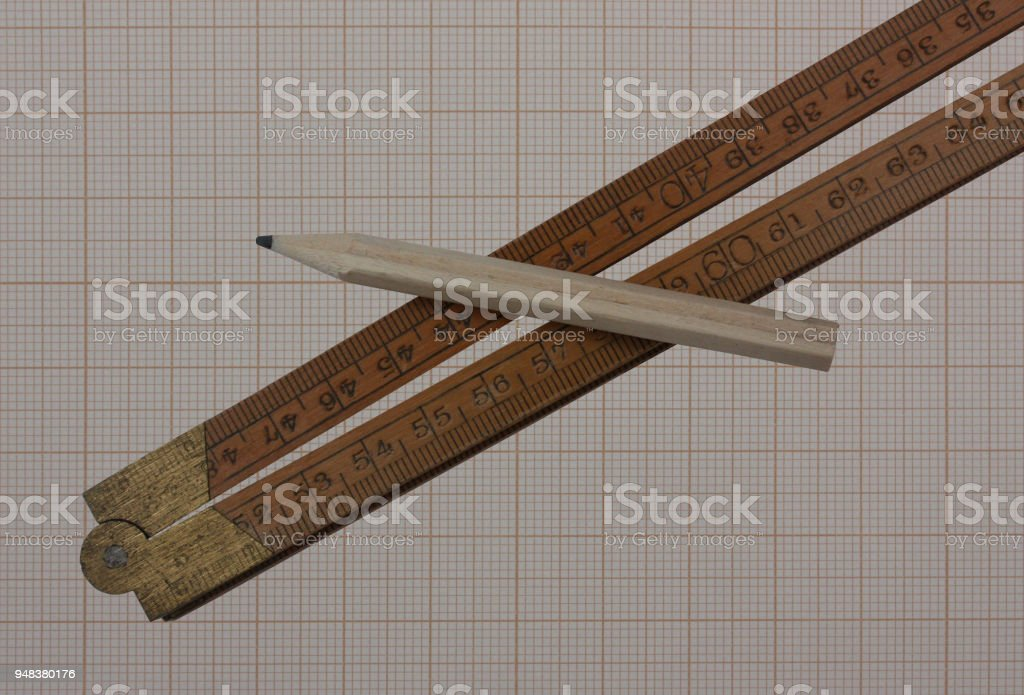 Graph Paper Kuch And Pencil Stock Photo More Pictures Of