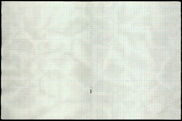 graph paper spread stock photo