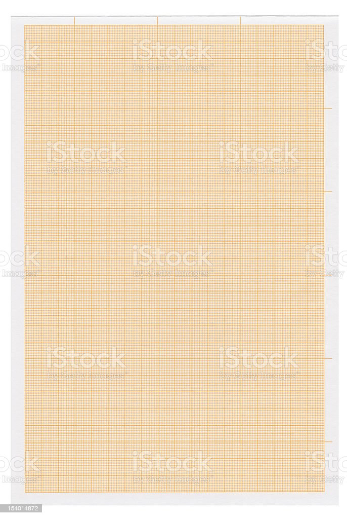 graph paper XXXXL with clipping path stock photo