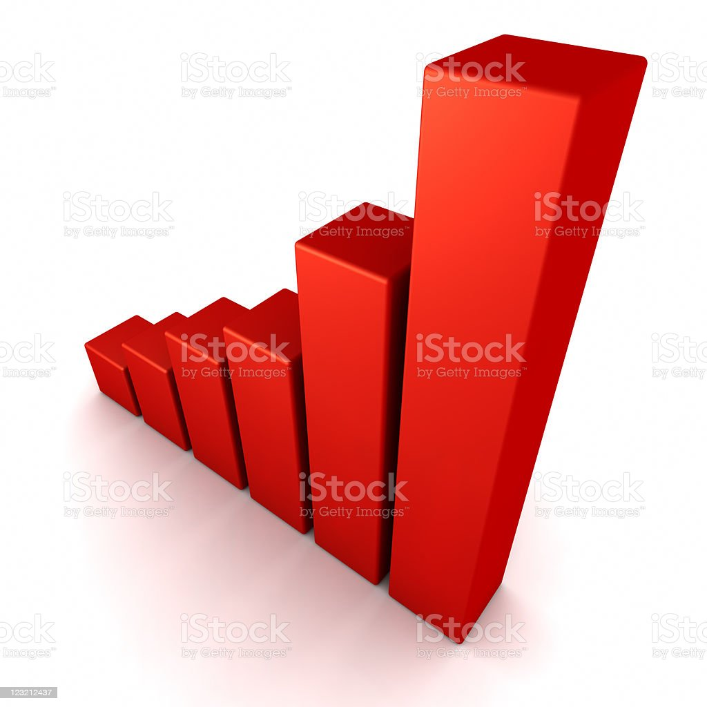 3D Graph. stock photo