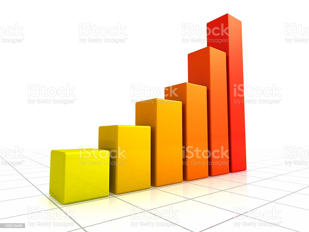 3D Graph. royalty-free stock photo