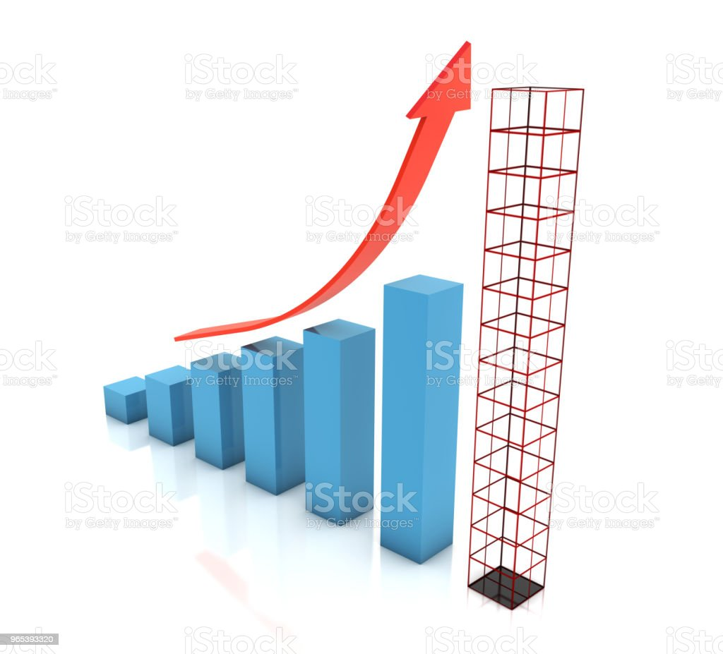 Graph planning future growth chart zbiór zdjęć royalty-free