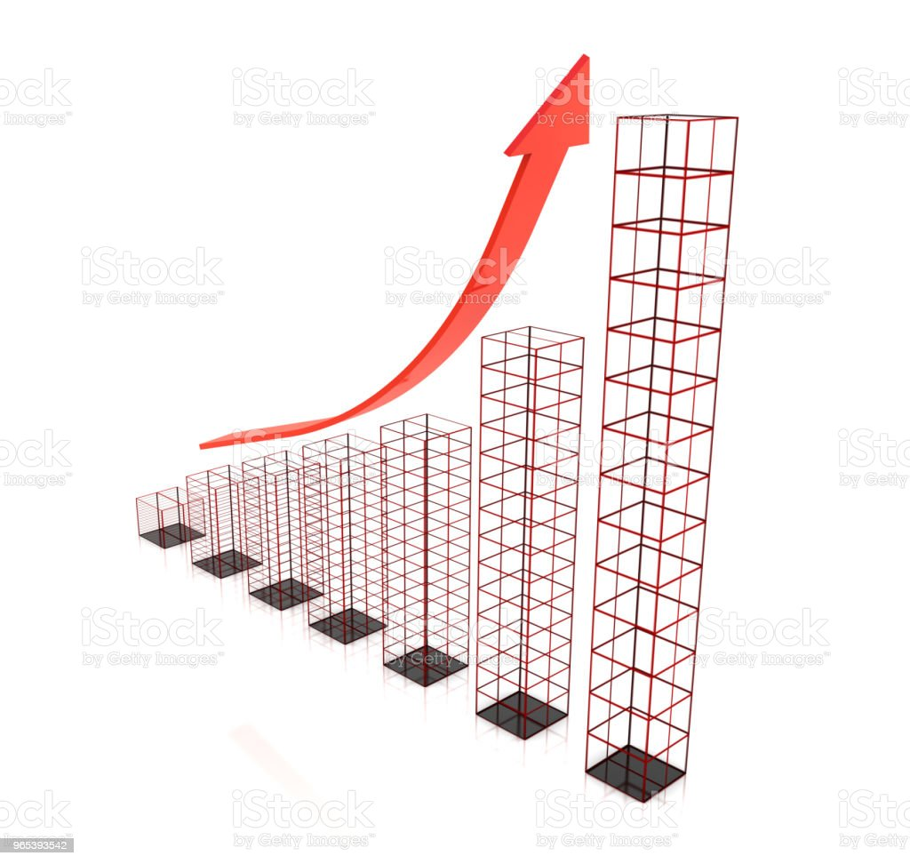 Graph planning future growth chart zbiór zdjęć royalty-free