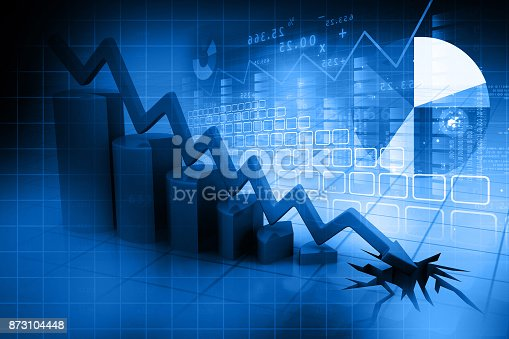 istock Graph showing business decline 873104448