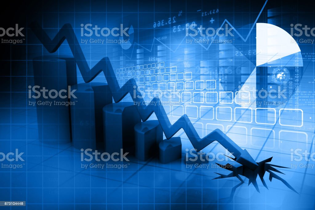 Graphique déclin d'affaires - Photo