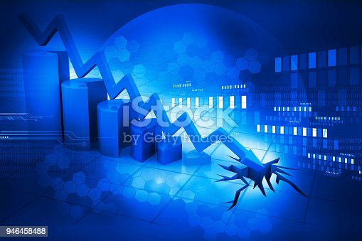 istock Graph showing business decline 946458488