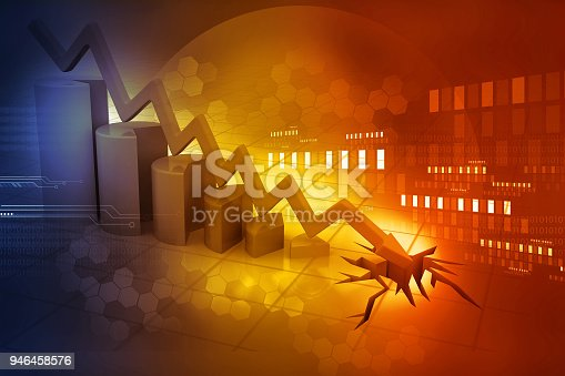 istock Graph showing business decline 946458576