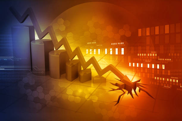 Graph showing business decline Graph showing business decline recession stock pictures, royalty-free photos & images