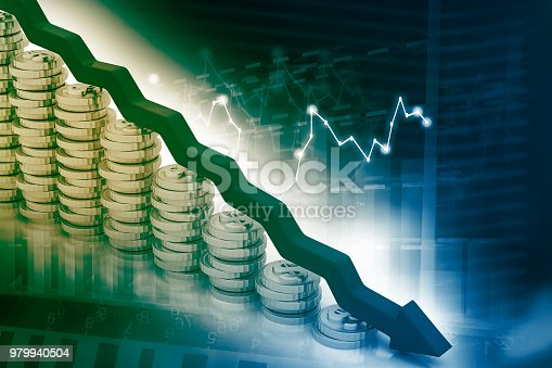 istock Graph showing business decline 979940504