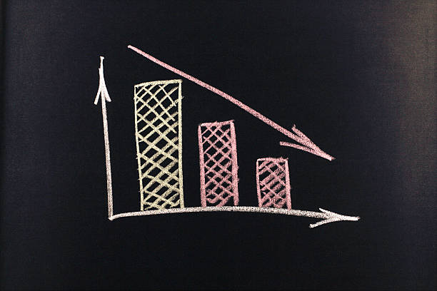 graph with chart stock photo