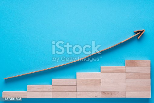 1018088060istockphoto Graph with going up arrow. 1187391603