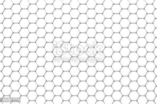 525225194 istock photo Graphene atomic structure, nanotechnology background. 3d illustration 542811718