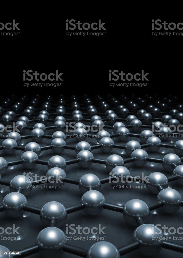 Graphen Molekulare Ebenenmodell 3-d – Foto