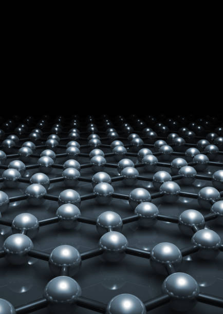 graphene layer molecular model 3 d - graphene stock photos and pictures