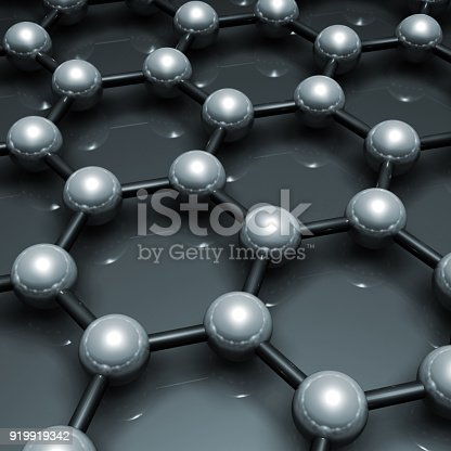 istock Graphene layer structure blue 3 d model 919919342