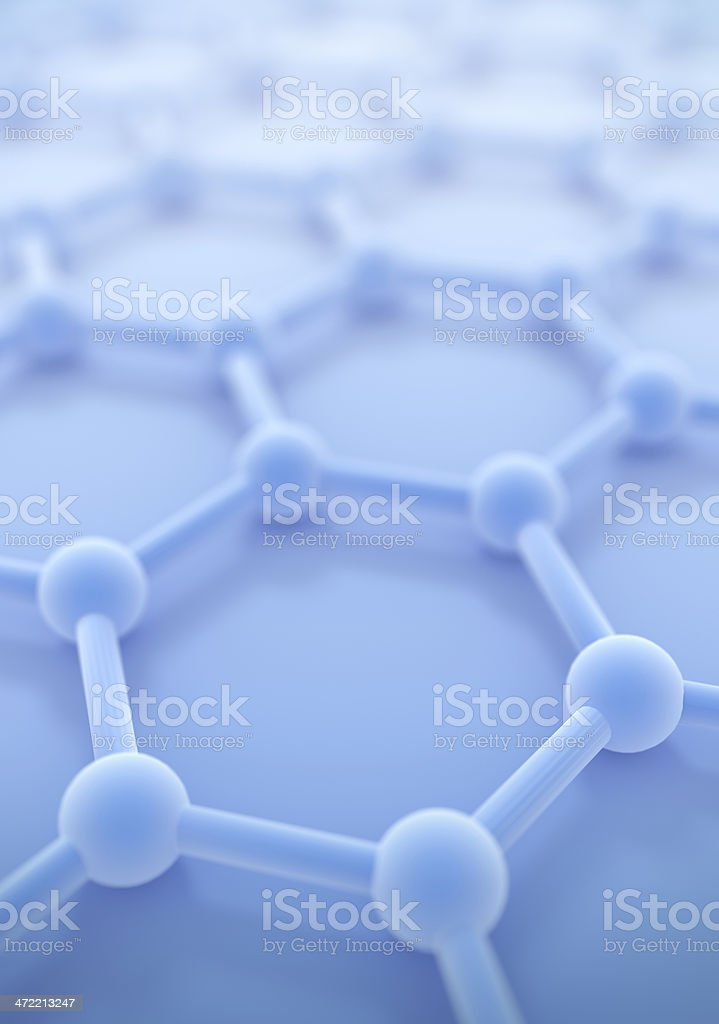 Graphene nano structure sheet in the laboratory at atomic scale stock photo