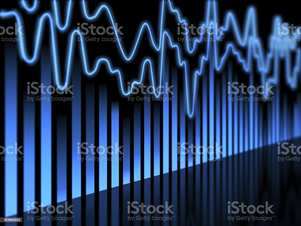Graph-Equalizer stock photo