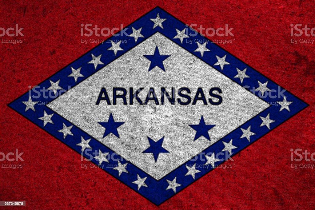 graphic american state grunge flag of arkansas stock photo