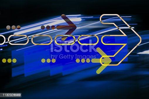 istock Graphic arrow on abstract background 1132328569