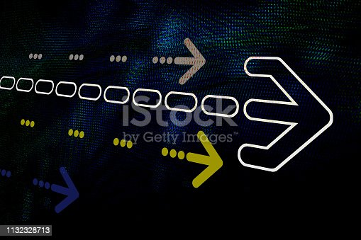 istock Graphic arrow on abstract background 1132328713