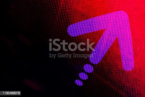 1018088060 istock photo Graphic Arrow on abstract background. 1150489076