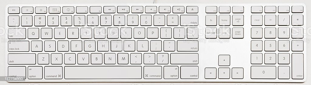 Graphic art image of a modern computer keyboard royalty-free stock photo