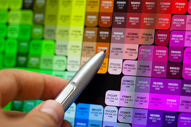 Graphic Artist Picking a Color stock photo