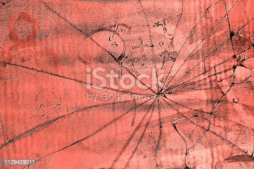 istock Graphic background based on the trend color 2019 living coral 1129429211