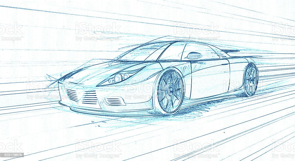Graphic Concept Car stock photo