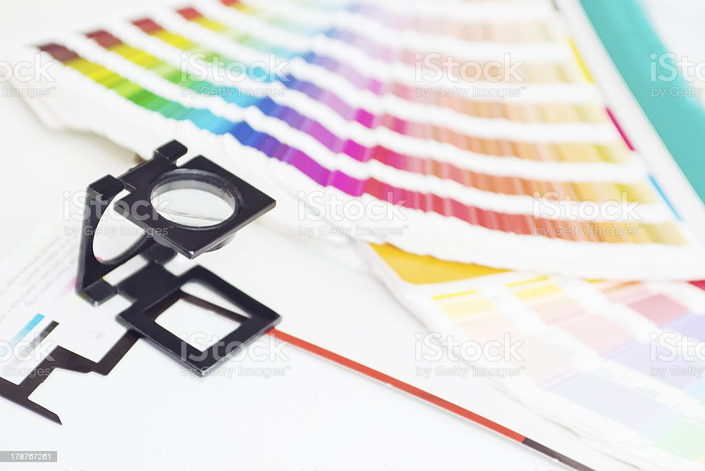 Graphic design and printing elements royalty-free stock photo