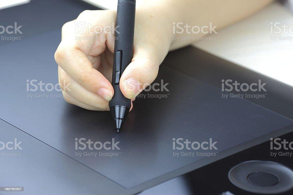 graphic design digital tablet stock photo