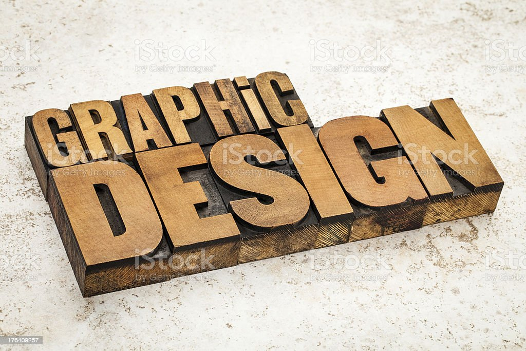 graphic design in wood type royalty-free stock photo
