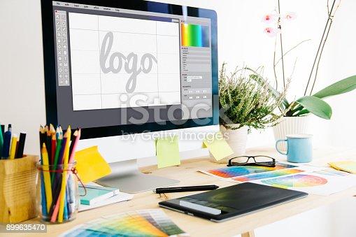 istock Graphic design studio 899635470