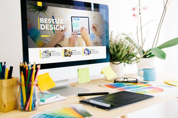 Grafik-Design-Studio zeigt ux design Website – Foto